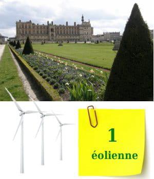 l'ile de france ne possède qu'une seule éolienne.