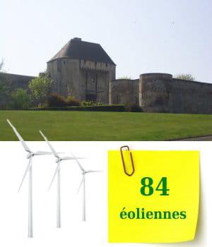 la basse-normandie compte 84éoliennes.