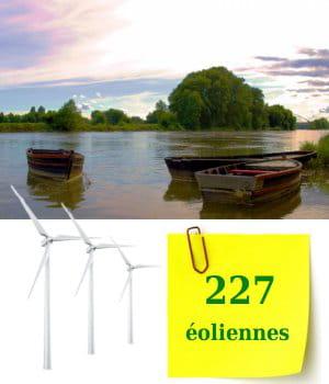 227 éoliennes sont installées dans la région centre