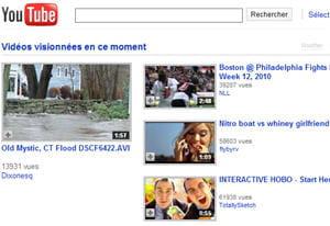youtube, le premier site vidéo en france