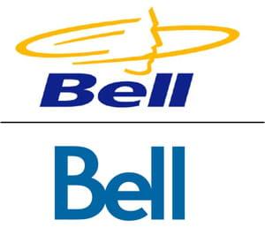 en haut : l'ancien logo, en bas : le nouveau.