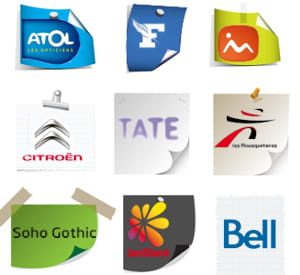 le journal du net a analysé les principales tendances en matière de logos.