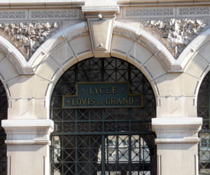 l'entrée du lycée louis le grand.