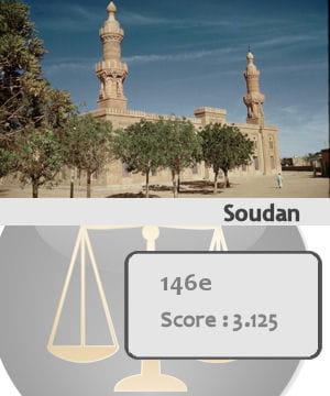 la soudan est le 146e pays le plus sûr du monde.