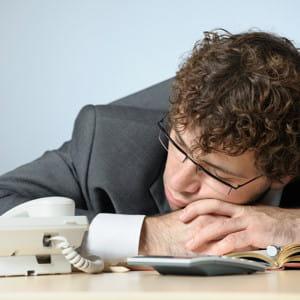 le burn out se traduit par une grande fatigue.