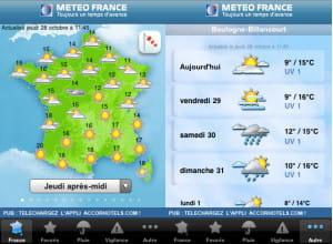 l'application météo france