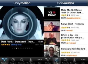 l'application dailymotion