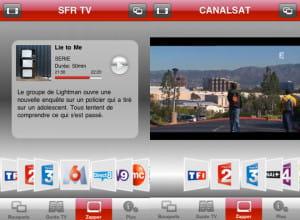 l'application sfr tv