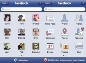 l'application facebook