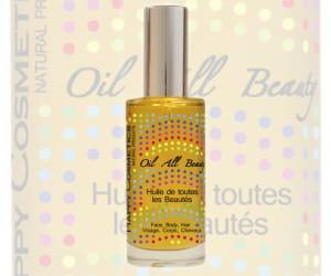 huile de toutes les beautés happy cosmetics, édition limitée, 25 euros.