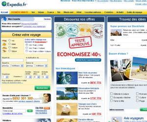 capture d'écran d'expedia.fr