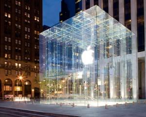 le magasin apple de la 5eavenue à new york.