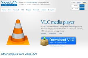 capture d'écran videolan.org