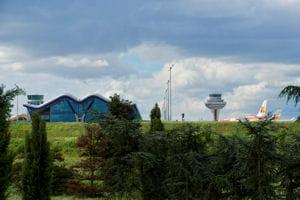 une vue de l'aéroport de madrid.