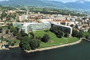 le siège de nestlé, à vevey, en suisse.