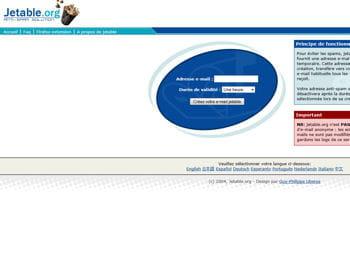 jetable.org permet de créer une adresse factice pour éviter les spams.