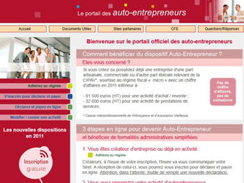 Se d clarer auto entrepreneur 60 sites incontournables for Auto entrepreneur idee activite