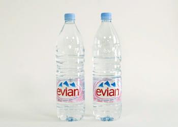 un euro = 2,55 litres d'eau minérale