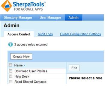 comme okta, sherpatools dispose de fonctions de gestion des accès.
