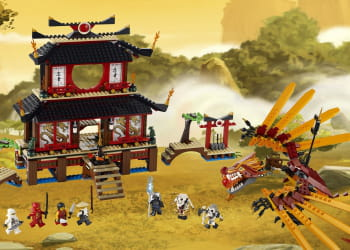 lego ninjago temple de feu.