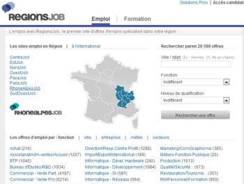 regionsjob.com arrive en seconde position avec plus de 1,4 million de visiteurs