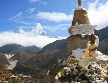 une vue du népal.