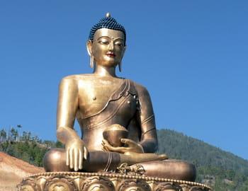 au bhoutan, le bonheur national brut remplace le pib.