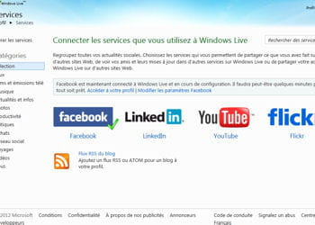 windows live messenger est étroitement lié à facebook.