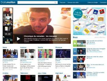 page d'accueil de dailymotion