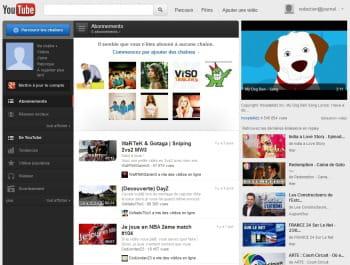 page d'accueil de youtube