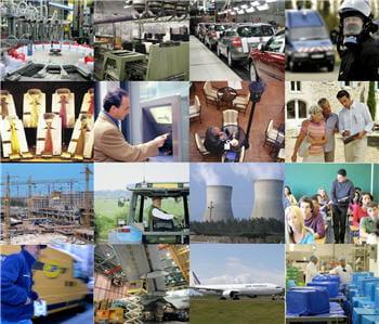 lequel de ces secteurs emploie le plus d'actifs?