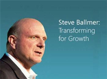 sous steve ballmer, microsoft aura enregistré une belle hausse de croissance et