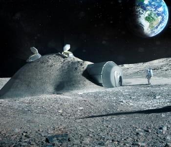 'imprimer' une base lunaire en 3d sur la lune permettrait d'économiser le
