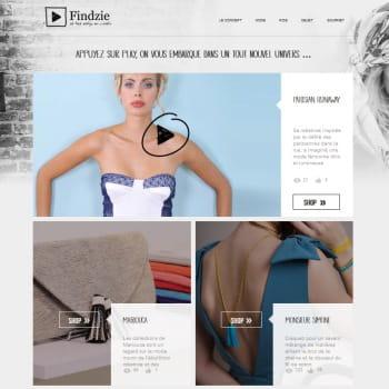 findzie, concept-store vidéo de mode