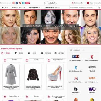 shozap.tv permet d'acheter les articles repérés à la tv