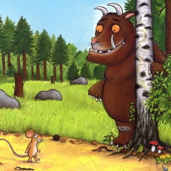 le monstre gruffalo sera décliné en peluches, dominos, lunettes, ou papeterie.