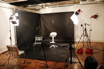 le studio photo et vidéo.