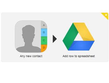 une autre recette populaire sur ifttt : importer ses contacts ios dans google