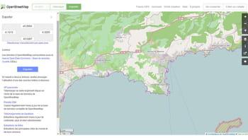 les données cartographiques collectées et régulièrement mises à jour d'open