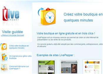 livepepper, solution de création de boutique en ligne.