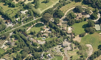 vue du ciel, via microsoft bing, de woodside en californie.
