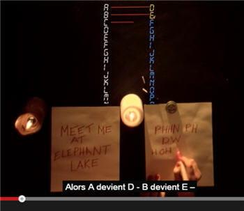 vidéo youtube expliquant le fameux chiffrement de cesar dans un cours de la khan