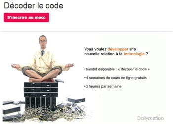 lemooc 'décoder le code' promet de découvrir l'univers du code informatique en