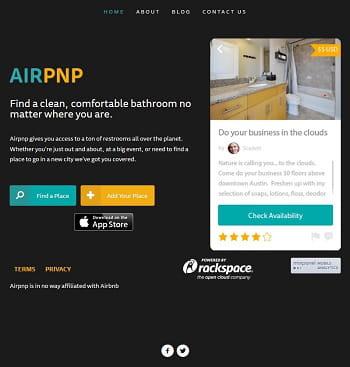 5 dollars pour l'utilisation de ces toilettes référencées sur airpnp