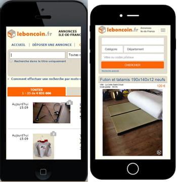 le bon coin comment l 39 optimiser pour le seo mobile jdn. Black Bedroom Furniture Sets. Home Design Ideas