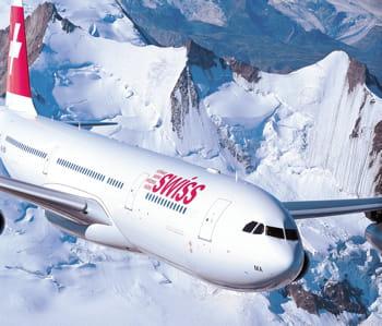 un airbus a340 de swiss.