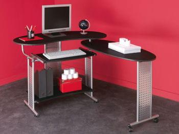 ce bureau offre deux formats de travail : avec un ou deux plateaux selon les