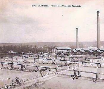 l'usine de mantes des ciments français.
