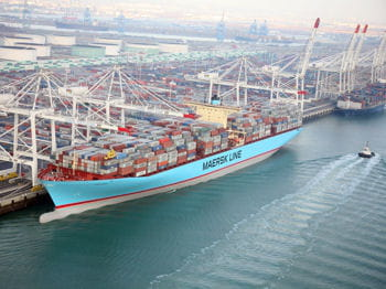 le porte-containers eugen maersk