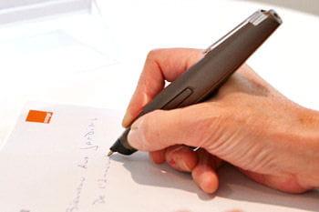 le stylo communicant, un produit innovant d'orange